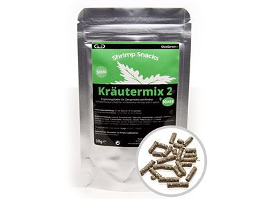 GlasGarten Shrimp Snacks Kräutermix 2 + Mint (30g)