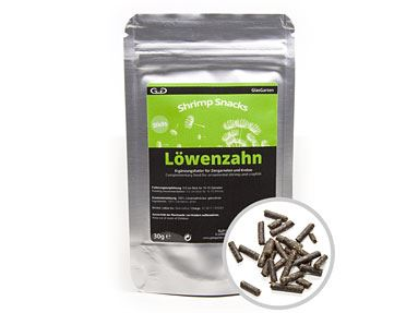 GlasGarten Shrimp Snacks Löwenzahn (30g)